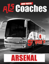 Return Coach to Arsenal (Date 16/05/17 DEP 11AM)