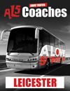 Return Coach to Leicester (Date 04/04/17 DEP 1pm)