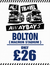 Return Coach to Bolton (Date Date 20/02/18 DEP 2PM)