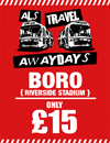 Return Coach to Boro (Date 06/01/18 DEP 10am)