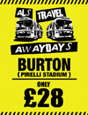 Return Coach to Burton (Date 25/11/17 DEP 8:30AM)