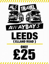 Return Coach to Leeds (Date 07/04/18 DEP 10AM)