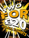 ALS 2 FOR �20 T-Shirt Offer