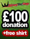 Donate �100 and get a free t-shirt