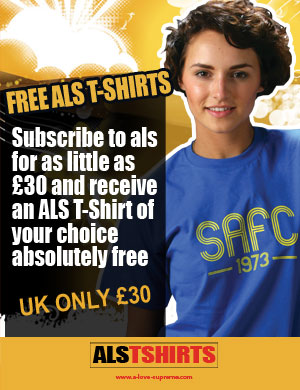ALS Special Offer Subscription + Free T Shirt (UK) - Click Image to Close
