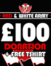 Donate £100 and get a free t-shirt