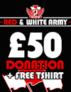 Donate £50 and get a free t-shirt